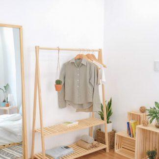 kệ quần áo standing gỗ sồi cao cấp , giá rẻ hà nội