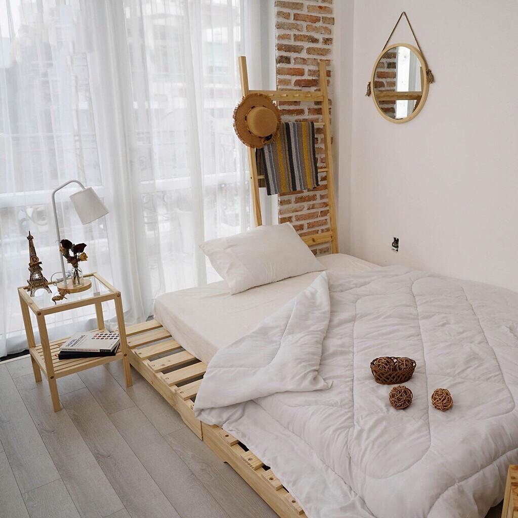 giường gỗ thông pallet hà nội