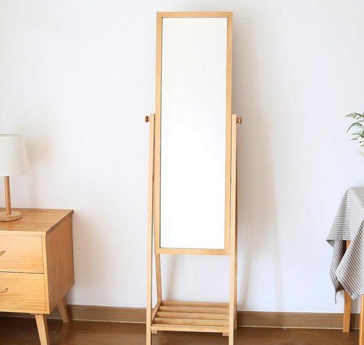 gương soi toàn thân gỗ sồi chất lượng hàng đầu ở hà nội